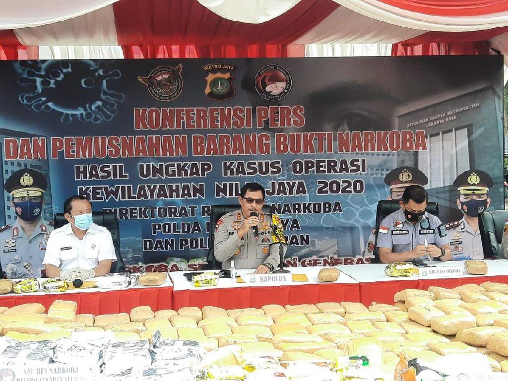 Polda Metro Musnahkan 190 Kg Sabu-265 Kg Ganja Hasil Operasi Nila Jaya