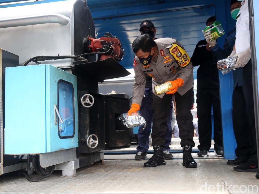 Polda Metro Musnahkan Narkoba Hasil Operasi Nila Jaya