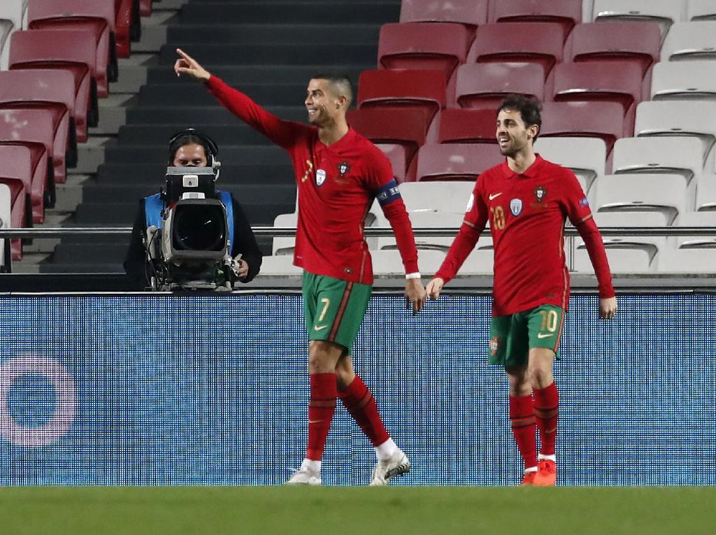 Wow! Cristiano Ronaldo Tembus 100 Kemenangan di Timnas Portugal