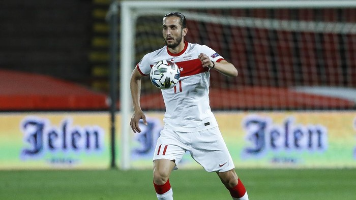 BELGRADE, SERBIA - SEPTEMBER 06: Yusuf Yazici of Turkey in action during the UEFA Nations League group stage match between Serbia and Turkey at Rajko Mitic Stadium on September 6, 2020 in Belgrade, Serbia. (Photo by Srdjan Stevanovic/Getty Images)