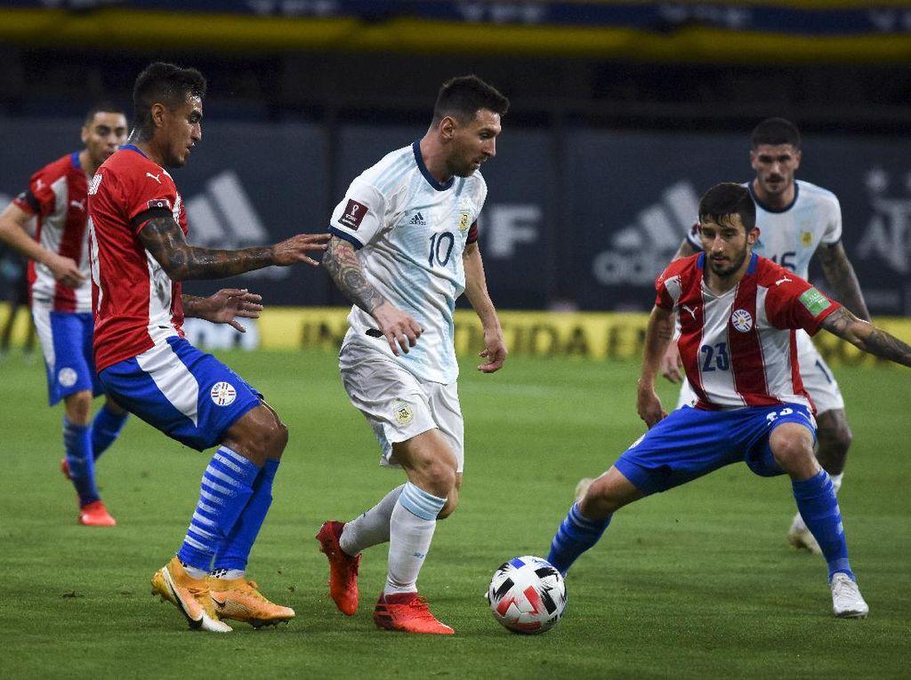 Hasil Kualifikasi Piala Dunia 2022: Argentina Vs Paraguay 1-1