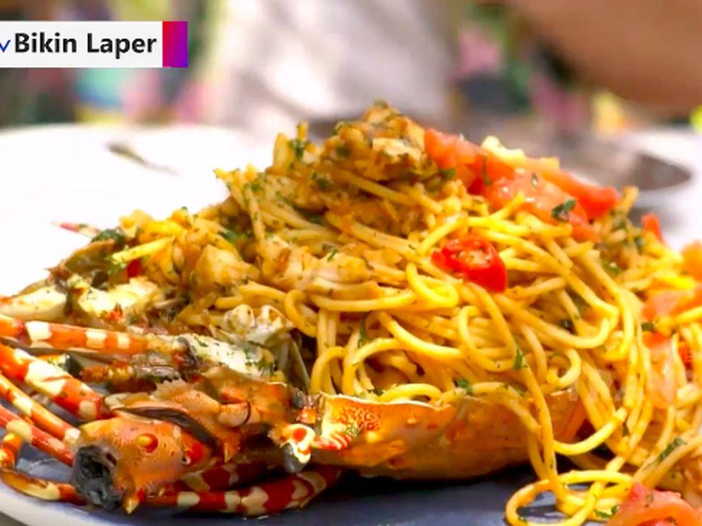 Bikin Laper! Spaghetti Lobster dan Steak Wagyu Rib Eye yang Mantul
