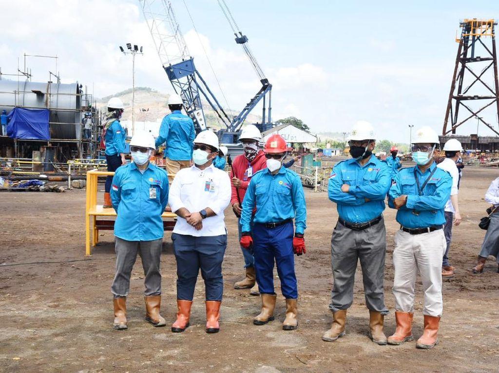 Kebut Pembangunan, PGN Saka Loadout Topside Platform Lapangan Sidayu