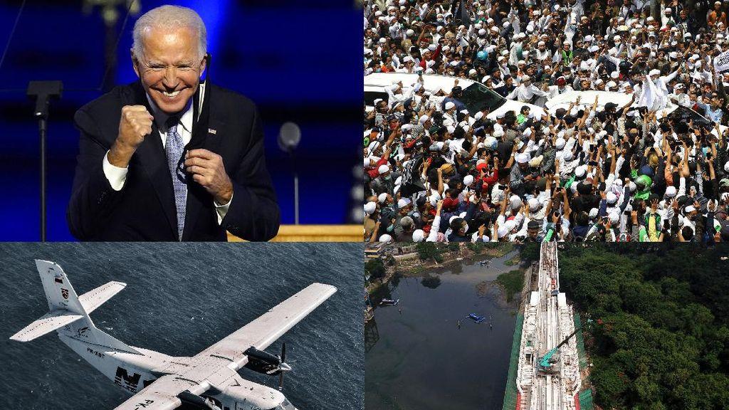 Joe Biden Perkasa, Kedatangan Rizieq hingga Uji Coba LRT