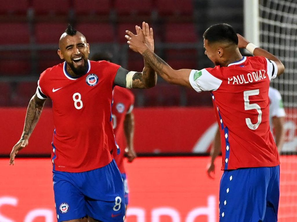 Hasil Kualifikasi Piala Dunia 2022: Vidal Dua Gol, Chile Kalahkan Peru 2-0