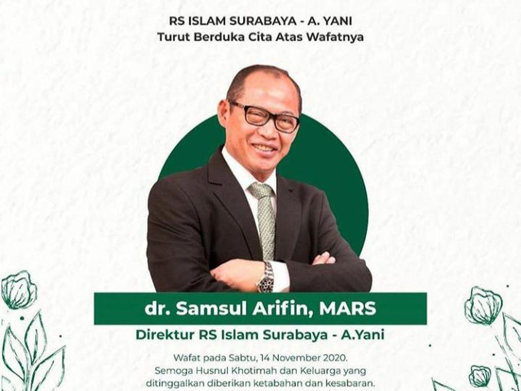Dirut Rumah Sakit Islam Surabaya Meninggal Terpapar COVID-19