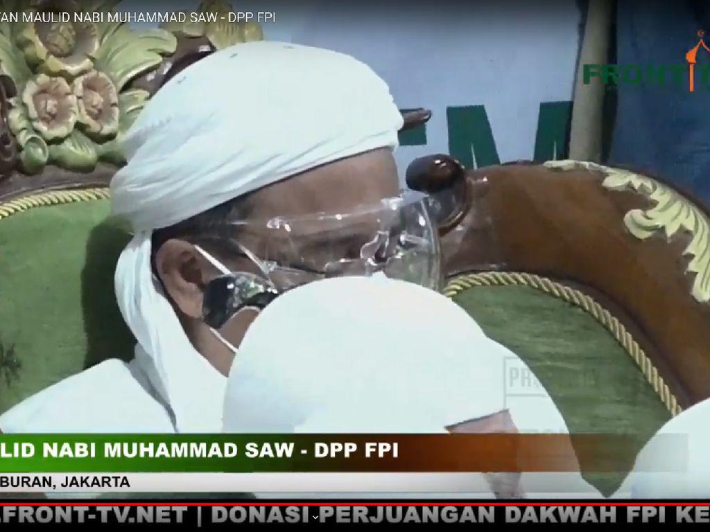 Isi Ceramah Maulid Nabi, Habib Rizieq Pakai Masker dan Face Shield