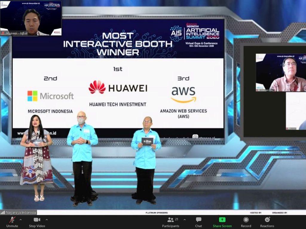 Huawei Raih Most Interactive Booth di Inovasi AI Summit 2020