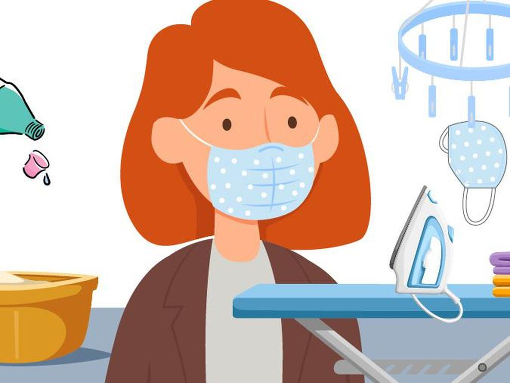 3 Cara Tepat Cuci Masker Kain