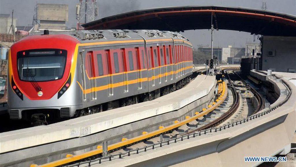 Mirip Warna KRL, Ini Dia MRT Pertama Pakistan