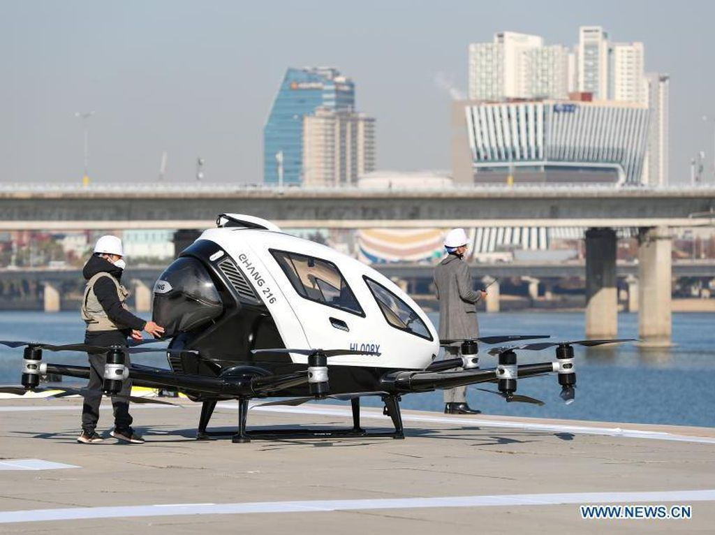 Perdana Mengudara! Ini Penampakan Taksi Terbang Korea