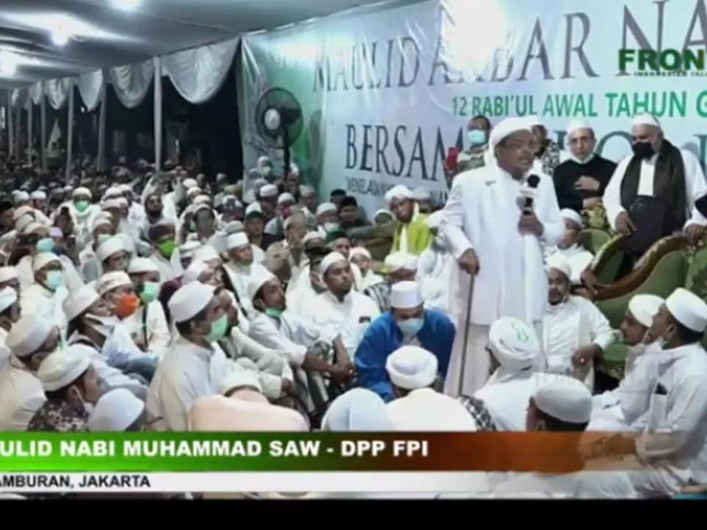 Habib Rizieq Akan Diklarifikasi Pelanggaran Prokes, FPI: Bukti Hukumnya Mana?