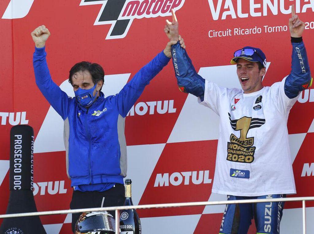 Permisi Trio Podium MotoGP Valencia, Mir Mau Selebrasi Dulu