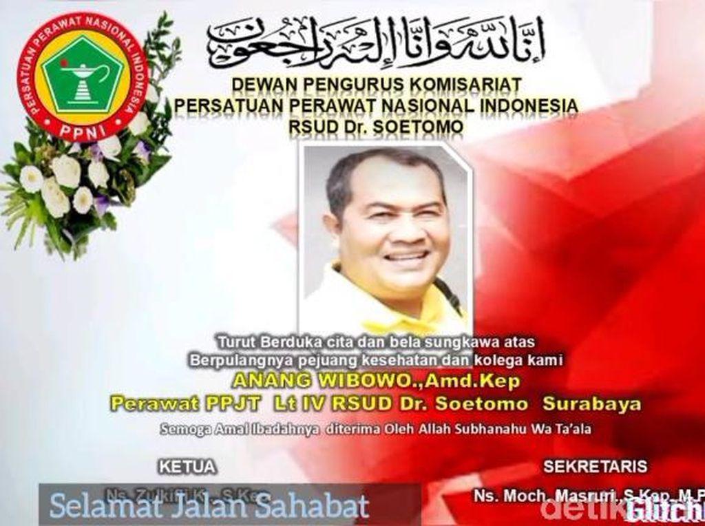 Perawat Senior RSU Soetomo Surabaya Meninggal Positif COVID-19
