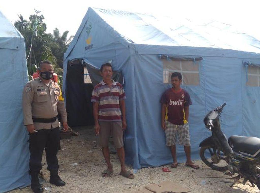 Banjir di 5 Kecamatan di Inhu Riau Surut, Polisi Dirikan Dapur Umum