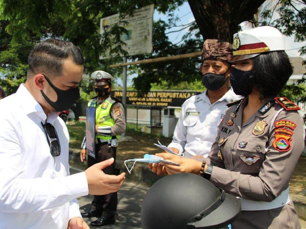 Cara Polres Lombok Barat agar Pengendara Tertib Lalu Lintas