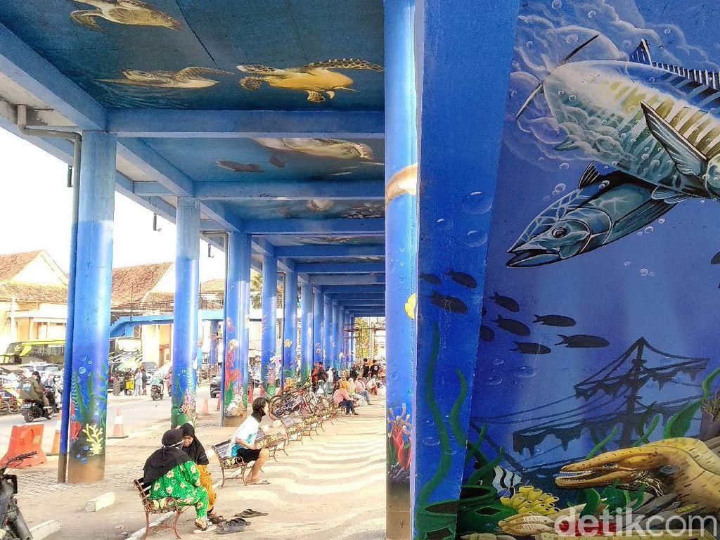Foto-foto Skywalk Pantai Barat Pangandaran Dipermak