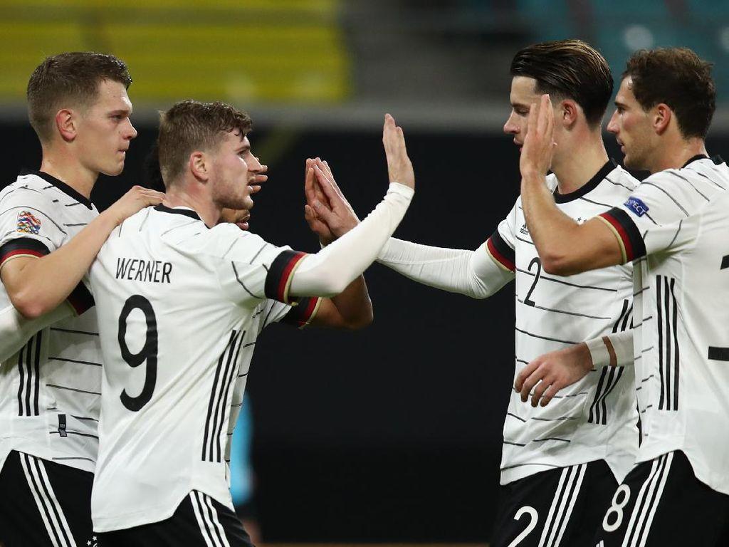 Jerman Vs Ukraina: Werner Brace, Die Nationalmannschaft Menang 3-1