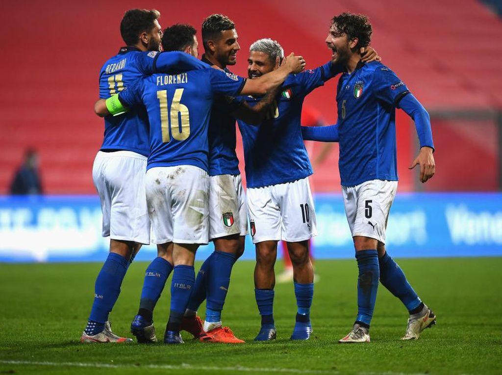 UEFA Nations League: Italia Tumbangkan Polandia 2-0