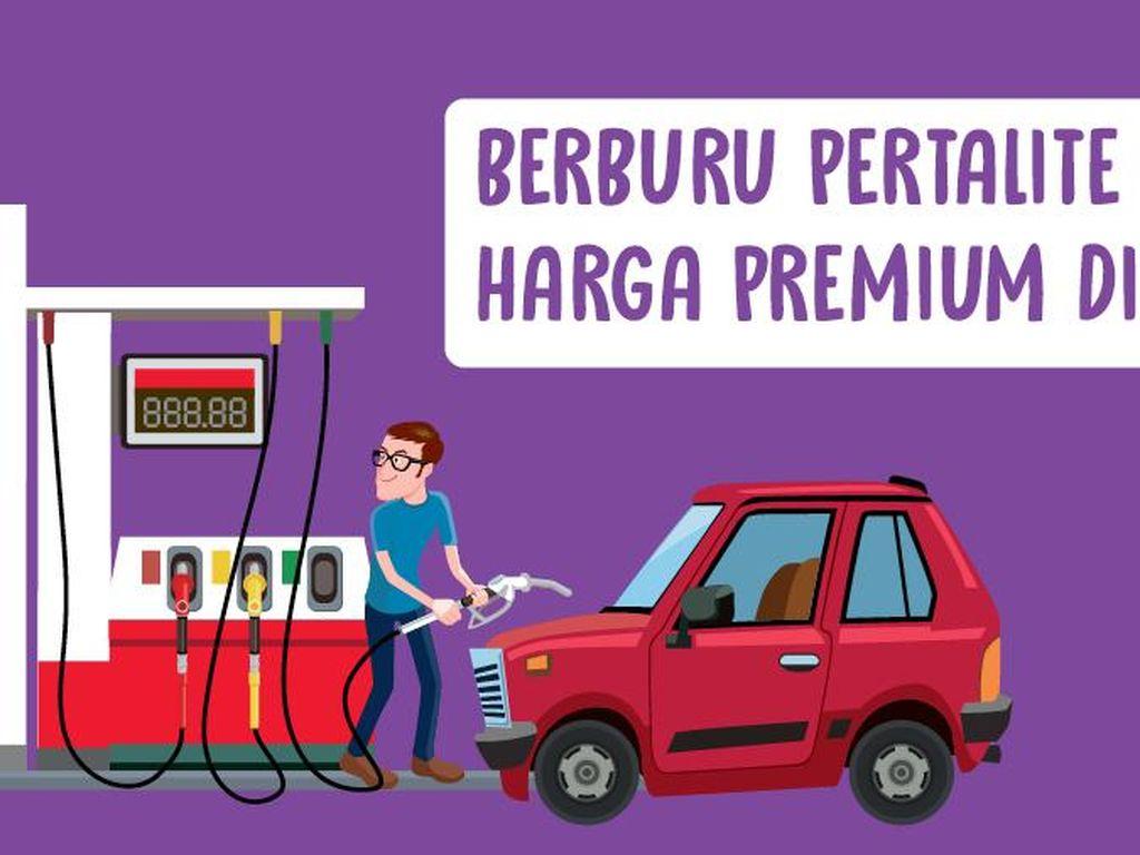 Berburu Pertalite Harga Premium di Jakarta