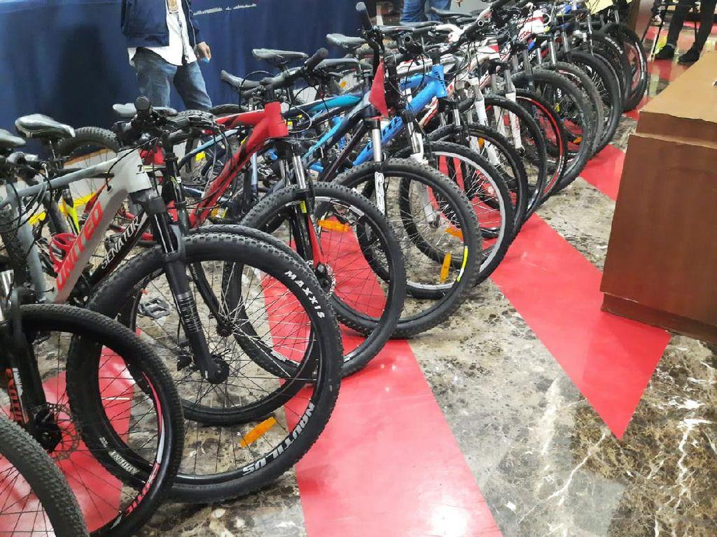 Silakan Dicek! Ada 34 Unit Sepeda Hasil Curian Disita Polda Metro