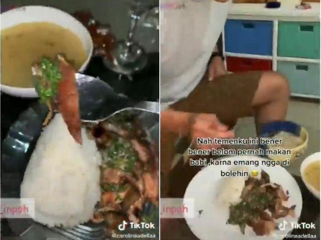 Prank Teman Makan Daging Babi, Wanita Ini Dihujat Netizen
