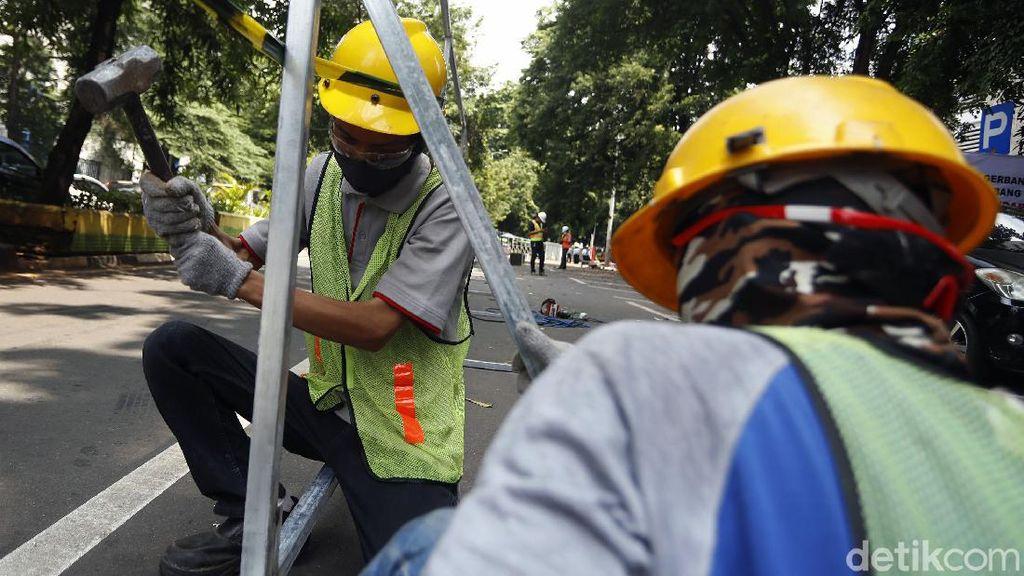 Sempat Molor, Penataan PKL Higienis di Jalan Raden Fatah Mulai Dikerjakan