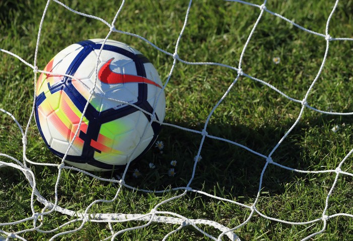 BRIGHTON, ENGLAND - JUNE 01:  The Nike Ordem V Premier League Match Ball is pictured during the Premier League Kicks - Nike Ordem V Premier League Match Ball Launch on June 1, 2017 in Brighton, England.  (Photo by Andrew Redington/Getty Images for Premier League)