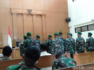 Keroyok Jusni hingga Tewas, 11 TNI Divonis Bui Paling Lama 1,2 Tahun