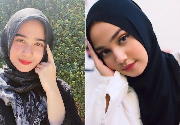 Syifa Hadju dan Tissa Biani sama-sama cantik dalam balutan hijab/instagram.com/tissabiani/syifahadjureal