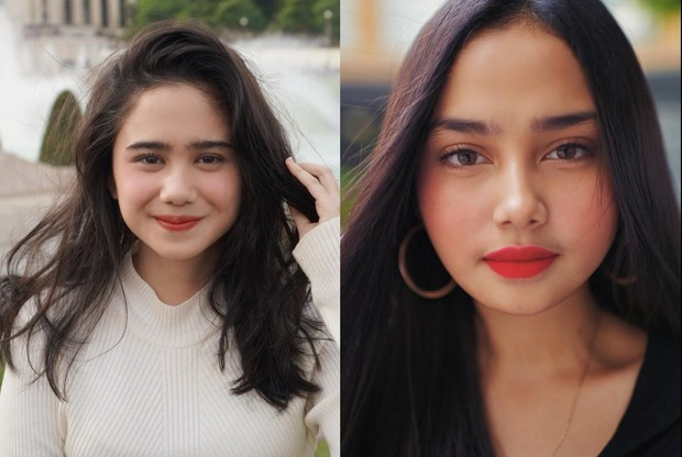 Syifa Hadju dan Tissa Biani sama-sama mengenakan lipstik merah merona/instagram.com/tissabiani/syifahadjureal