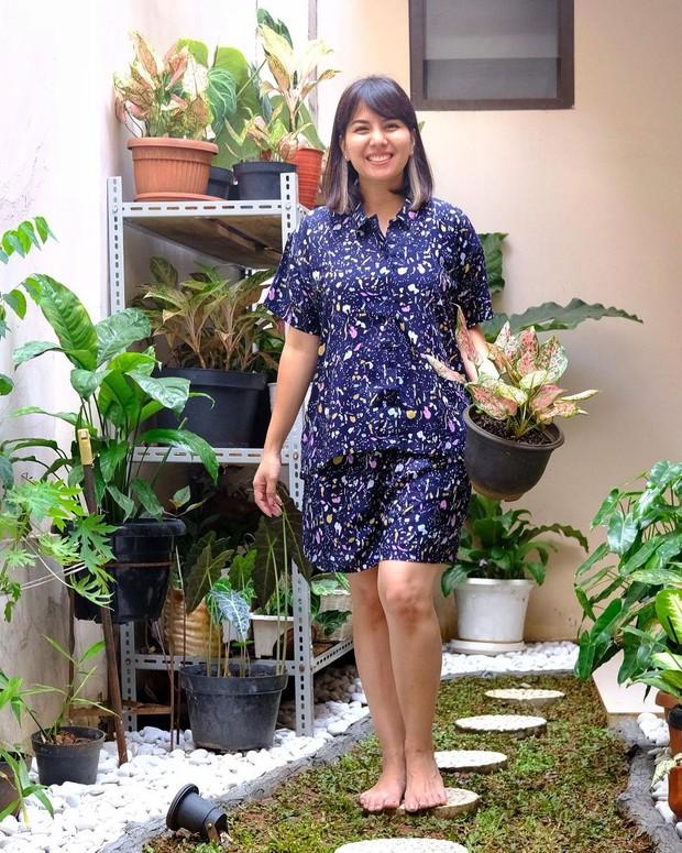 Tya Ariestya terlihat santai dengan baju rumahannya/instagram.com/tya_ariestya