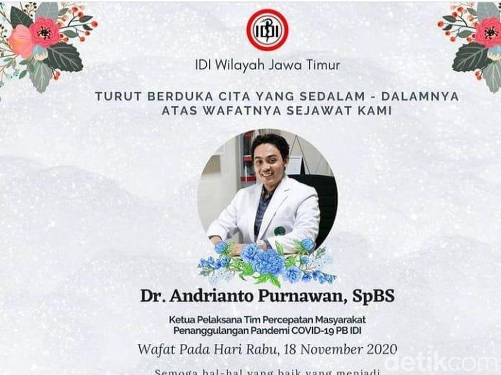 Dokter Bedah Saraf di Surabaya Meninggal Positif COVID-19 Tanpa Komorbid