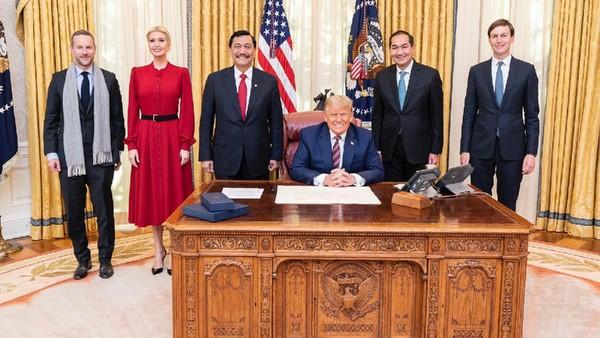 Menko Luhut Pandjaitan bertemu Presiden AS Donald Trump (Kemenko Marves).