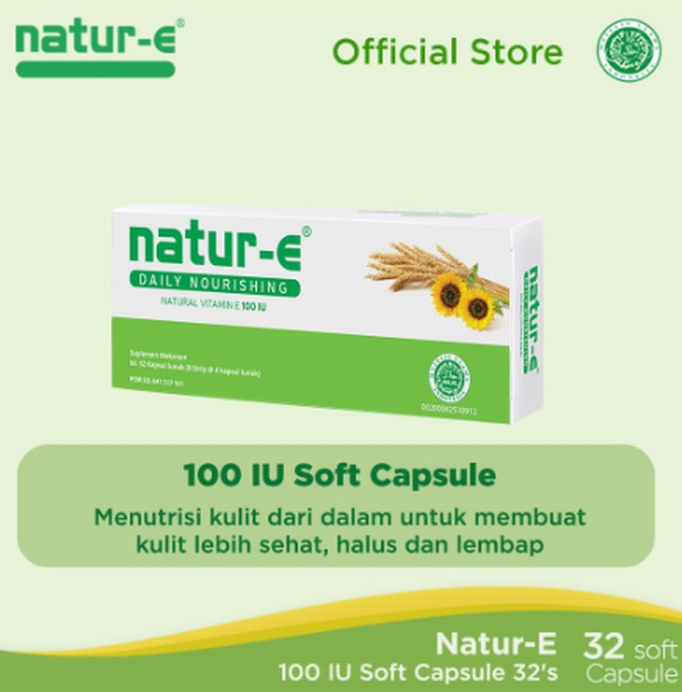 Pilihan Vitamin E Terbaik adalah Natur E/Shopee.co.id