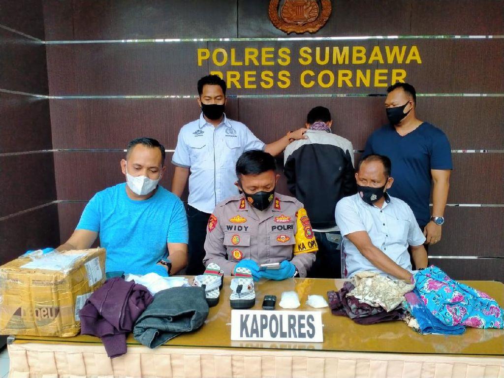 Selundupkan Sabu dalam Sandal Wanita, Pria di NTB Diringkus Polisi