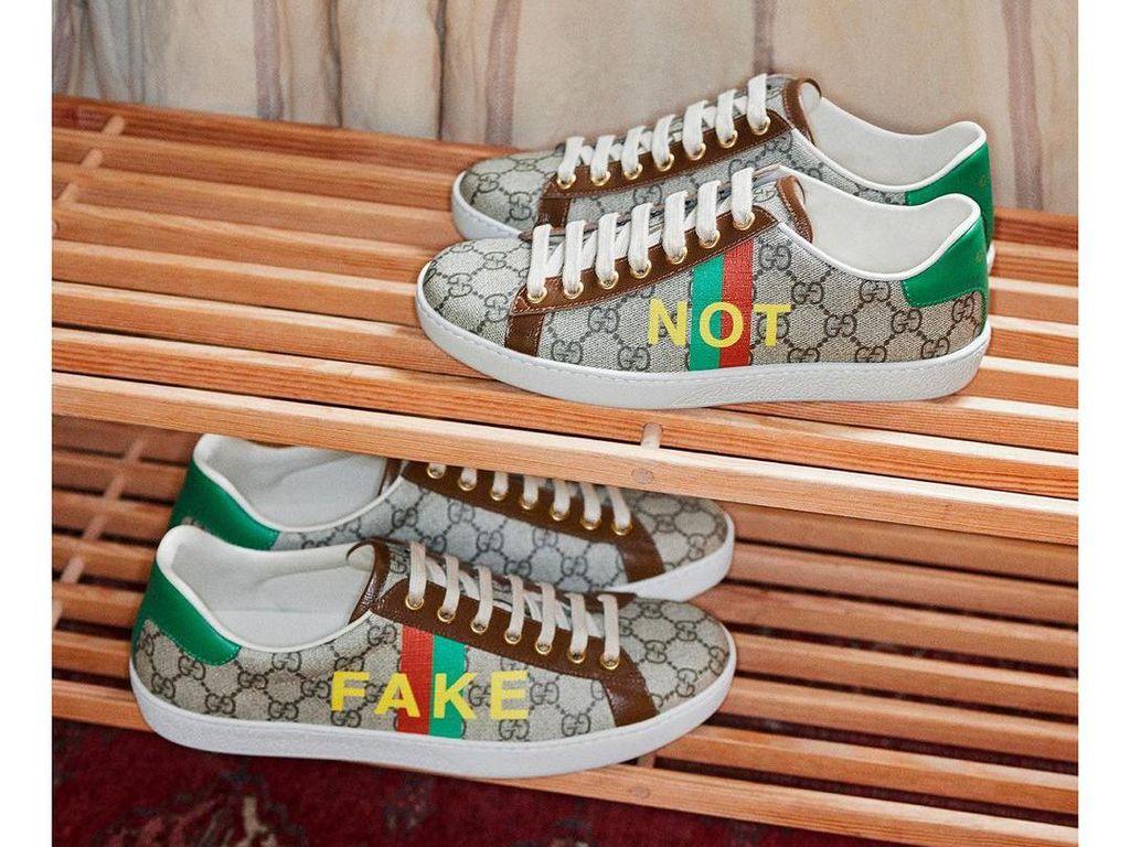 Gucci Rilis Sepatu Fake Not, Sindir Kamu yang Suka Barang KW