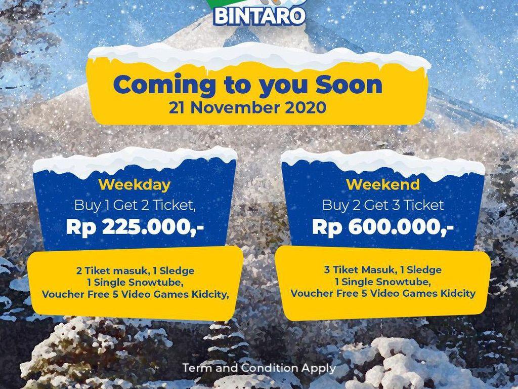 Trans Snow World Bintaro Buka Lagi, Ada Promo Buy 1 Get 1 Loh