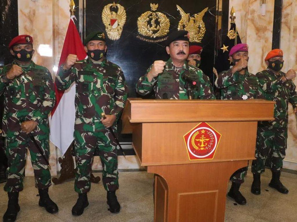 Momen Panglima TNI Unjuk Pasukan Elite Siap Lawan Perusak Persatuan