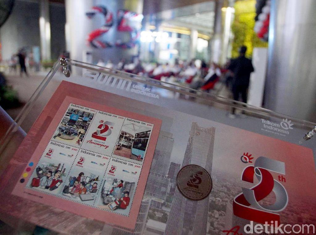 Perangko Khusus 25 Tahun IPO Telkom Indonesia
