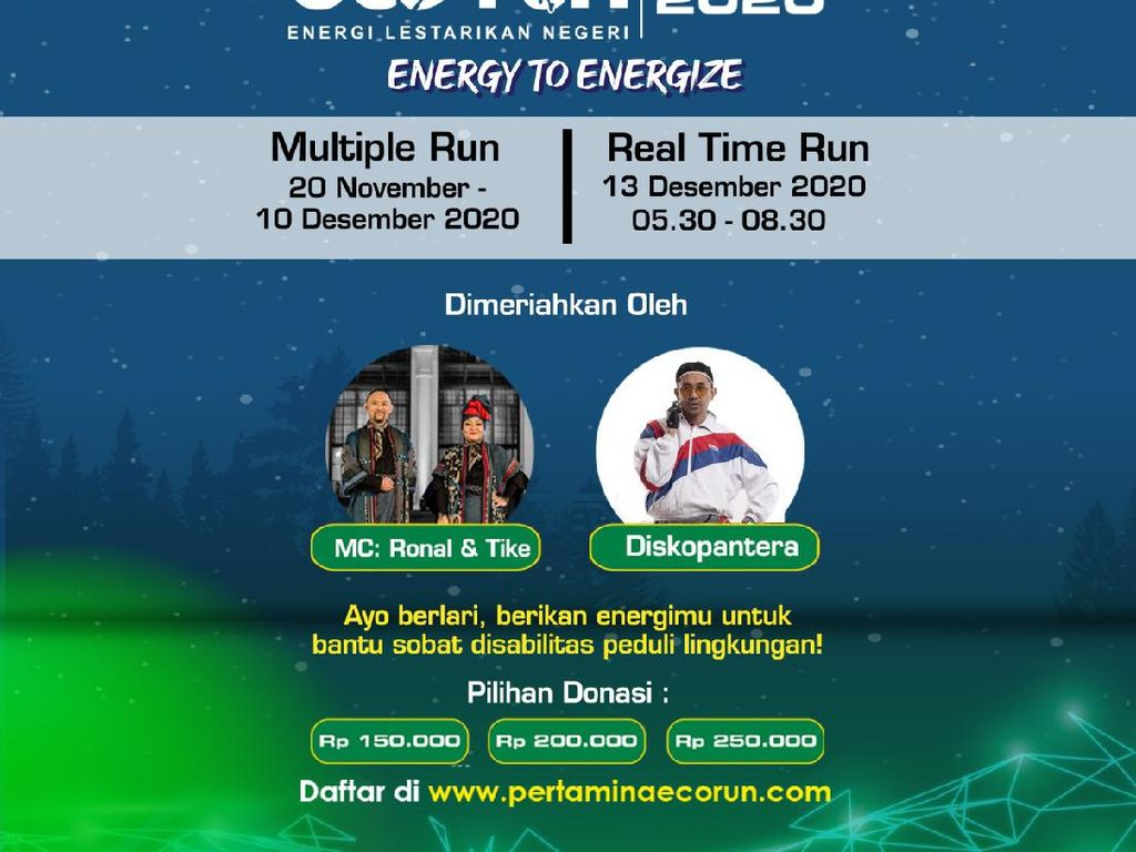 3.000 Runner Ikut Tantangan Multiple Run di Pertamina Virtual Eco Run