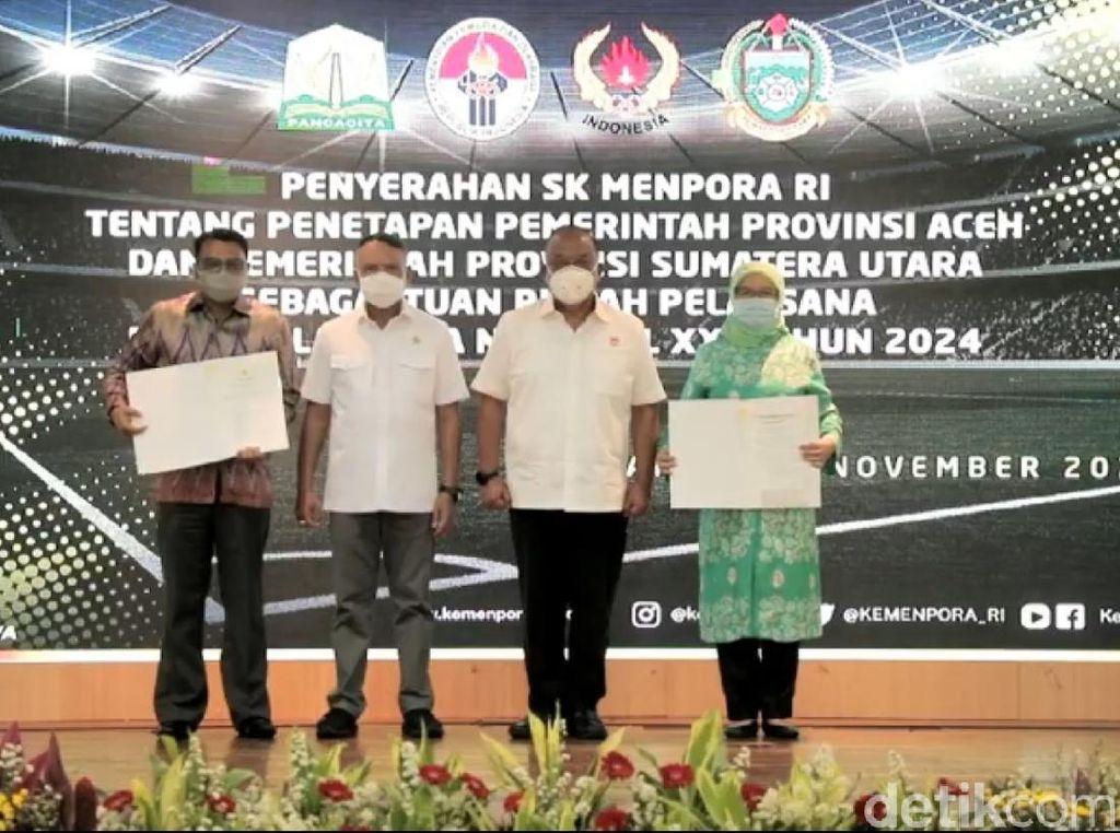 SK Penetapan PON 2024 Terbit, Aceh dan Sumut Diminta Segera Berbenah
