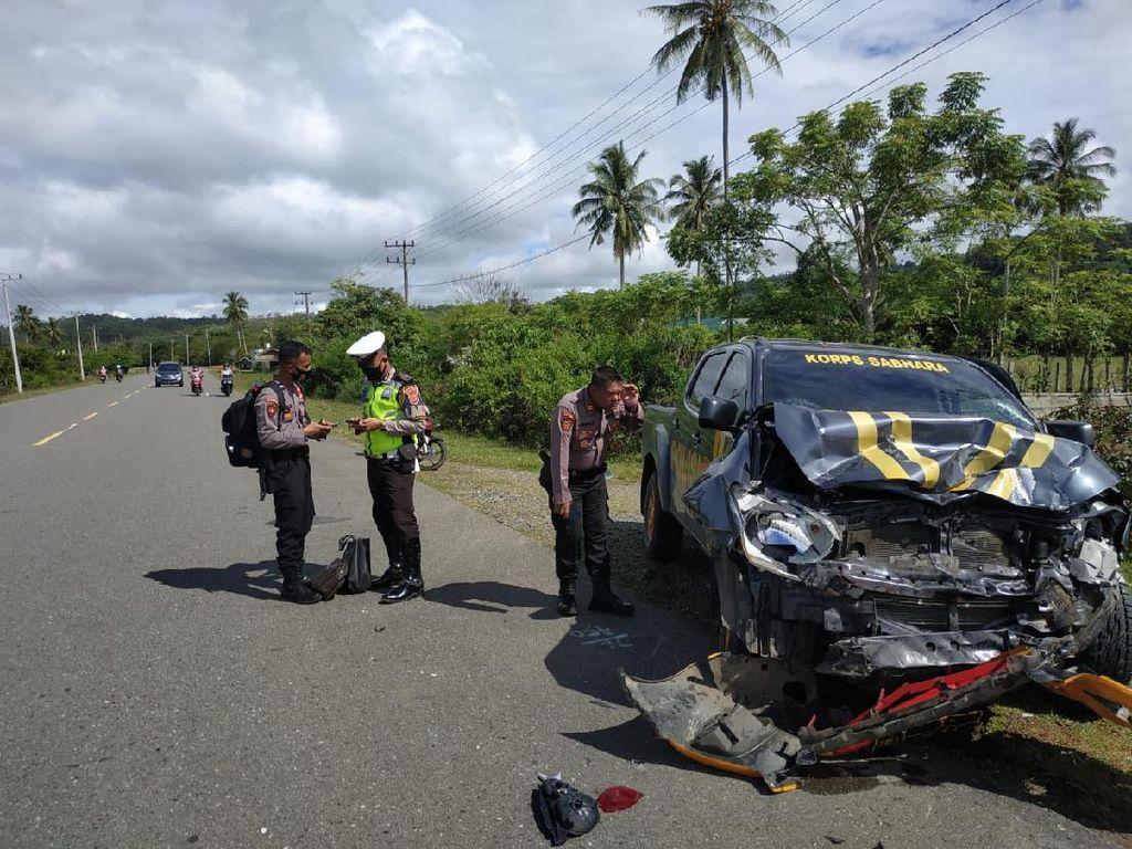 Tabrakan Maut Mobil Patroli dengan Mobil Warga di Aceh, 1 Orang Tewas
