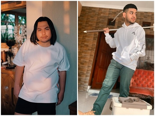 Potret gaya fashion andalan ala Keanu dan Fadil.