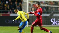 Swedia dan Lithuania, paling sering Cristiano Ronaldo jebol gawangnya dengan jumlah masing-masing tujuh gol (Getty Images)