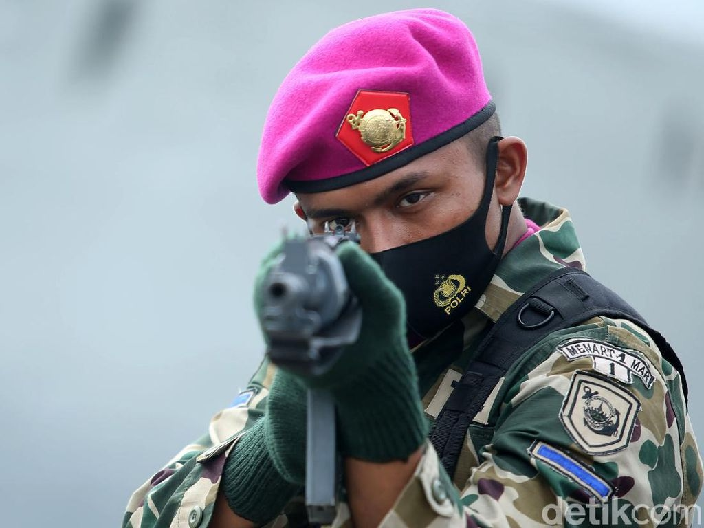 Gelar Pasukan TNI Jelang Latihan di Perairan Natuna Selatan