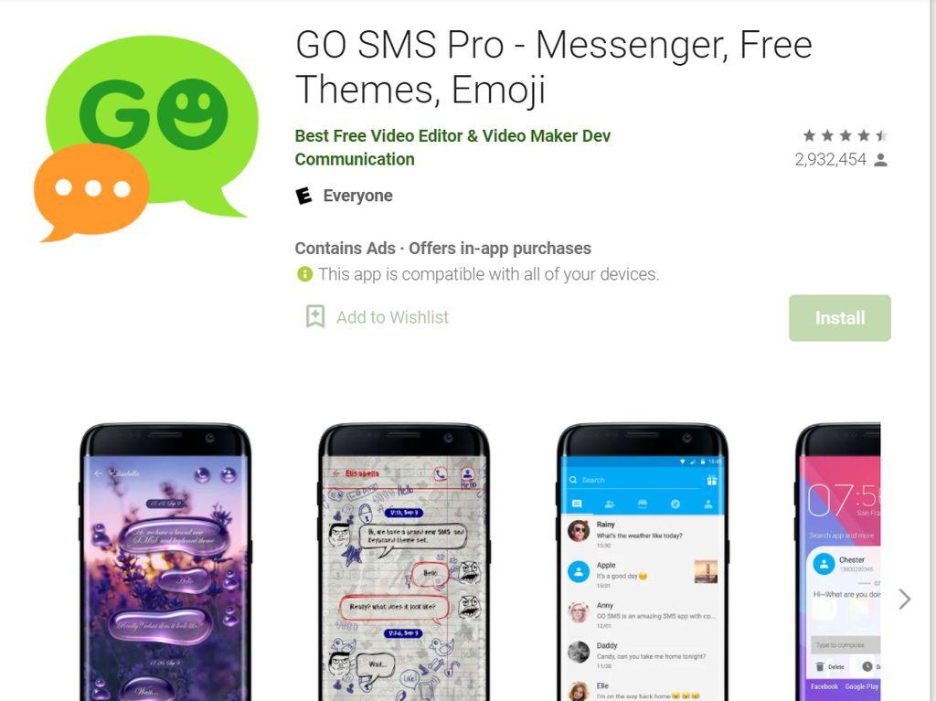 Aplikasi Go SMS Pro Ekspos Jutaan Foto dan Video Pengguna