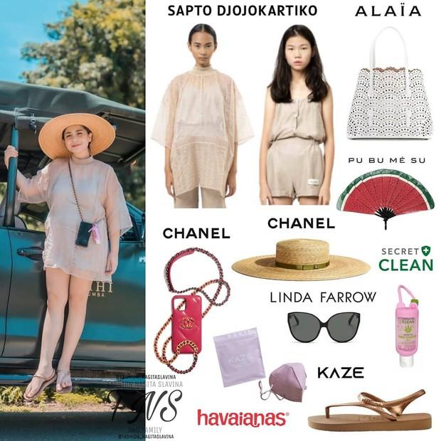 Nagita Slavina menegnakan atasan berbahan organza yang berkelas/instagram.com/fashion_nagitaslavina
