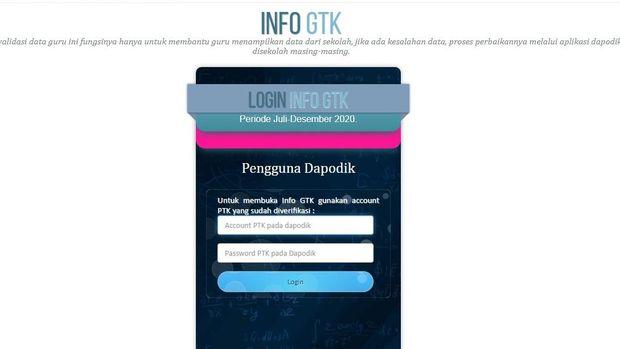 Tampilan situs info.gtk.kemdikbud.go.id untuk info BSU