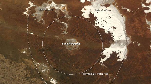 Acraman Crater Asteroid